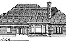 Dream House Plan - Traditional Exterior - Rear Elevation Plan #70-305