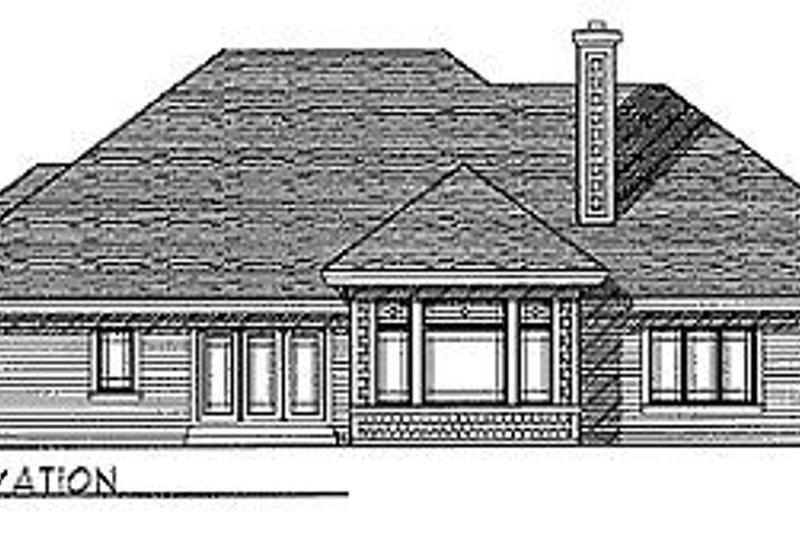 Traditional Exterior - Rear Elevation Plan #70-305 - Houseplans.com