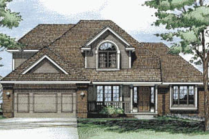 Traditional Exterior - Front Elevation Plan #20-280