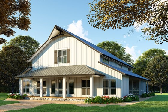 House Plan Design - Country Exterior - Front Elevation Plan #923-97