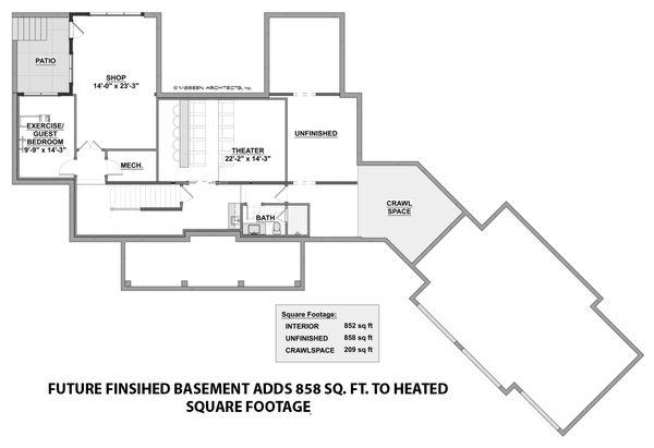 Farmhouse Style House Plan - 3 Beds 3.5 Baths 3177 Sq/Ft Plan #928-309 Floor Plan - Other Floor Plan