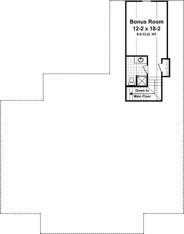 Country Floor Plan - Upper Floor Plan Plan #21-368