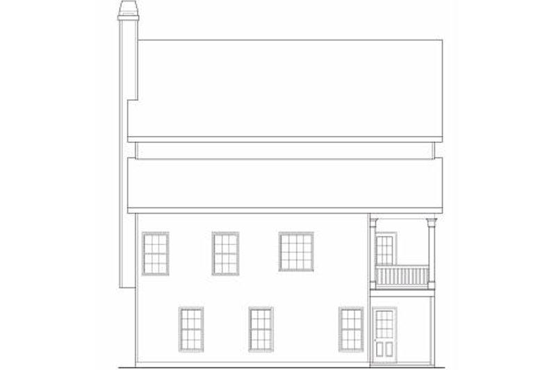 Traditional Exterior - Rear Elevation Plan #419-150 - Houseplans.com