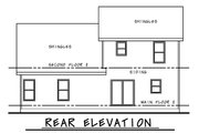 Craftsman Style House Plan - 4 Beds 3 Baths 1554 Sq/Ft Plan #20-2353 Exterior - Rear Elevation