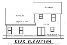 Craftsman Exterior - Rear Elevation Plan #20-2353