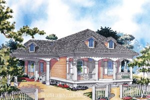 Country Exterior - Front Elevation Plan #930-77