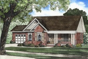 Traditional Exterior - Front Elevation Plan #17-1121