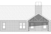Southern Exterior - Rear Elevation Plan #932-80