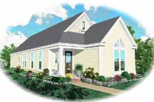 Cottage Exterior - Front Elevation Plan #81-187