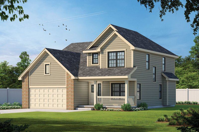 Dream House Plan - Craftsman Exterior - Front Elevation Plan #20-1776