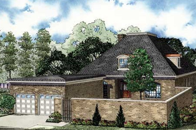 European Style House Plan - 4 Beds 3 Baths 3275 Sq/Ft Plan #17-2298 Exterior - Front Elevation