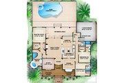 Beach Style House Plan - 3 Beds 4.5 Baths 2522 Sq/Ft Plan #27-437 Floor Plan - Main Floor Plan