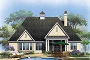 European Style House Plan - 3 Beds 2 Baths 1828 Sq/Ft Plan #929-28 Exterior - Rear Elevation