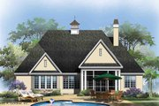 European Style House Plan - 3 Beds 2 Baths 1828 Sq/Ft Plan #929-28 Exterior - Rear Elevation