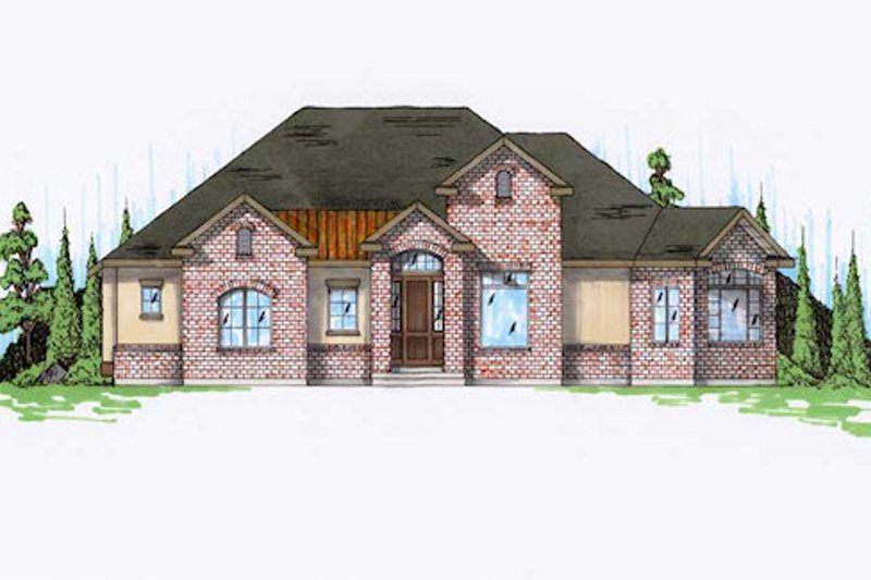 House Plan Design - Traditional Exterior - Front Elevation Plan #5-257