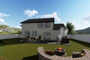 Traditional Style House Plan - 3 Beds 2.5 Baths 2176 Sq/Ft Plan #1060-37 Exterior - Rear Elevation