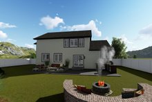 House Design - Traditional Exterior - Rear Elevation Plan #1060-37
