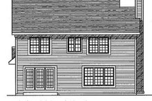 Dream House Plan - Traditional Exterior - Rear Elevation Plan #70-176