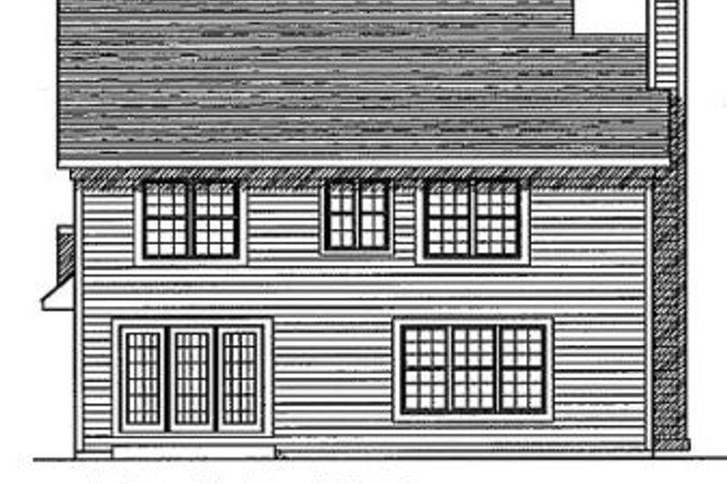 Traditional Exterior - Rear Elevation Plan #70-176 - Houseplans.com
