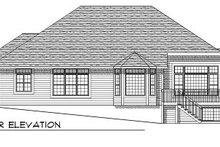 Home Plan - European Exterior - Rear Elevation Plan #70-763