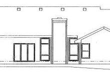 Home Plan Design - Ranch Exterior - Rear Elevation Plan #20-587