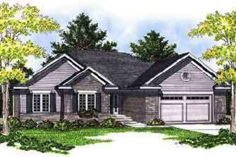 Traditional Style House Plan - 3 Beds 2 Baths 1844 Sq/Ft Plan #70-680 Exterior - Front Elevation