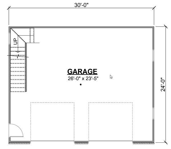 Craftsman Floor Plan - Main Floor Plan Plan #1064-50