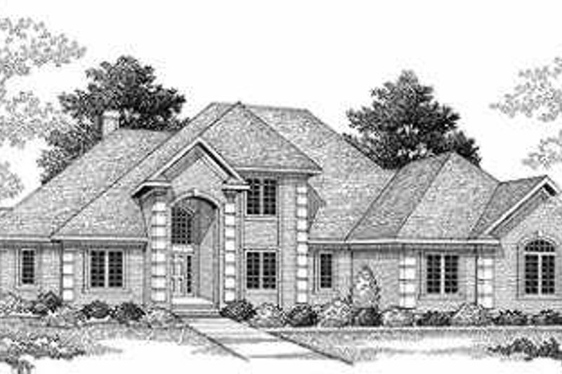 Architectural House Design - Traditional Exterior - Front Elevation Plan #70-480