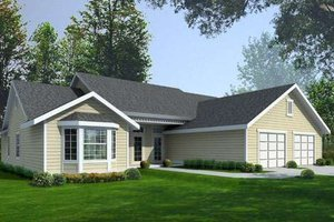 Ranch Exterior - Front Elevation Plan #100-466