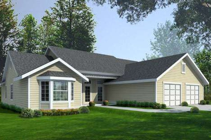 Ranch Style House Plan - 3 Beds 2 Baths 2135 Sq/Ft Plan #100-466