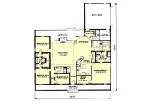 Country Floor Plan - Main Floor Plan Plan #44-129