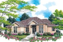 House Plan Design - Mediterranean Exterior - Front Elevation Plan #48-425