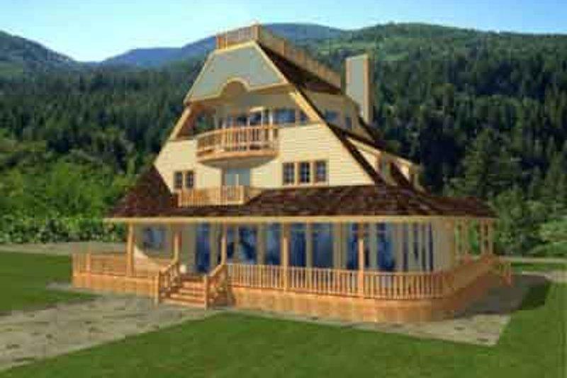Modern Exterior - Front Elevation Plan #117-242 - Houseplans.com