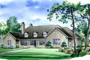 Traditional Style House Plan - 5 Beds 4.5 Baths 3538 Sq/Ft Plan #490-3 Exterior - Front Elevation