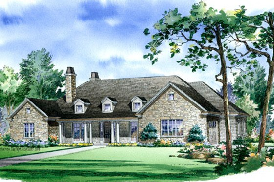 Traditional Exterior - Front Elevation Plan #490-3