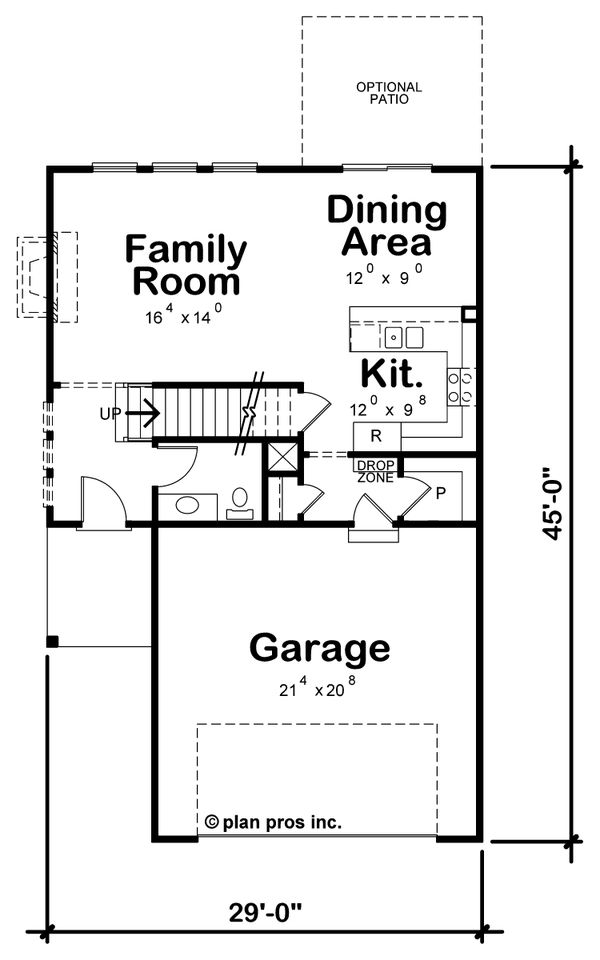 House Plan Design - Farmhouse Floor Plan - Main Floor Plan #20-2427