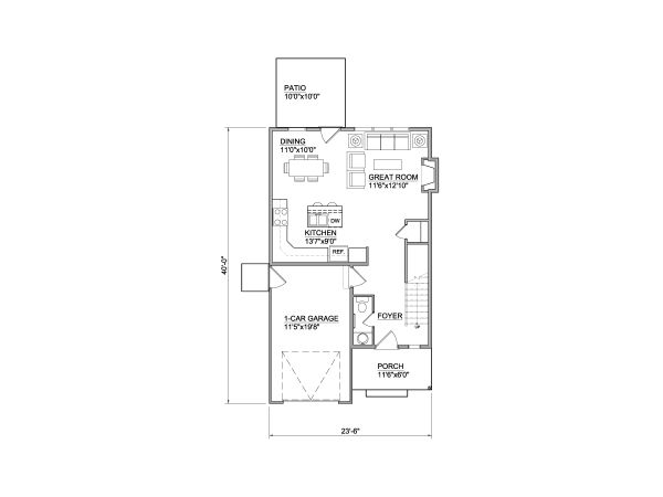 Traditional Floor Plan - Main Floor Plan #116-305