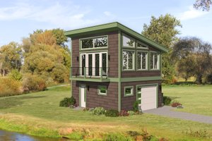Modern Exterior - Front Elevation Plan #932-390