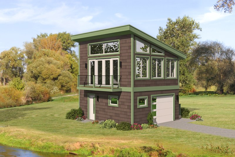 Dream House Plan - Modern Exterior - Front Elevation Plan #932-390