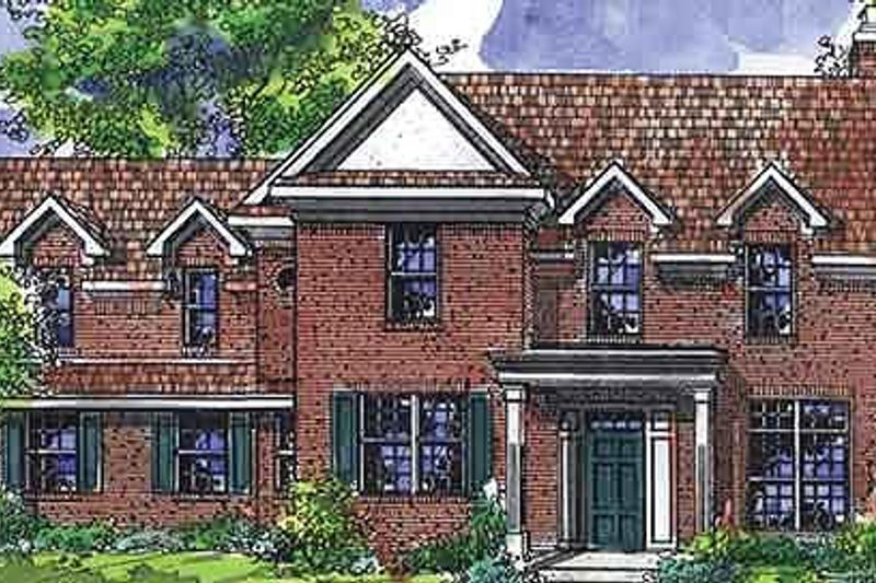 Colonial Exterior - Front Elevation Plan #320-472