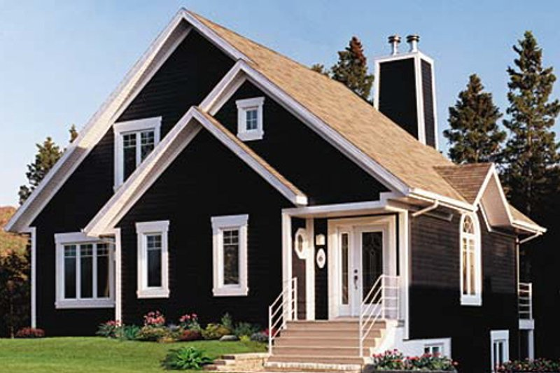 Architectural House Design - Country Exterior - Front Elevation Plan #23-2042