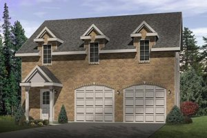 Colonial Exterior - Front Elevation Plan #22-433