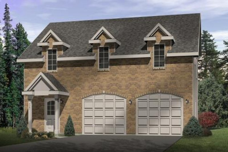 Colonial Style House Plan - 2 Beds 1 Baths 1240 Sq/Ft Plan #22-433 Exterior - Front Elevation