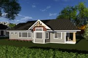 Craftsman Style House Plan - 2 Beds 2.5 Baths 1875 Sq/Ft Plan #70-1269 Exterior - Rear Elevation