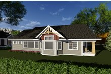 Dream House Plan - Craftsman Exterior - Rear Elevation Plan #70-1269