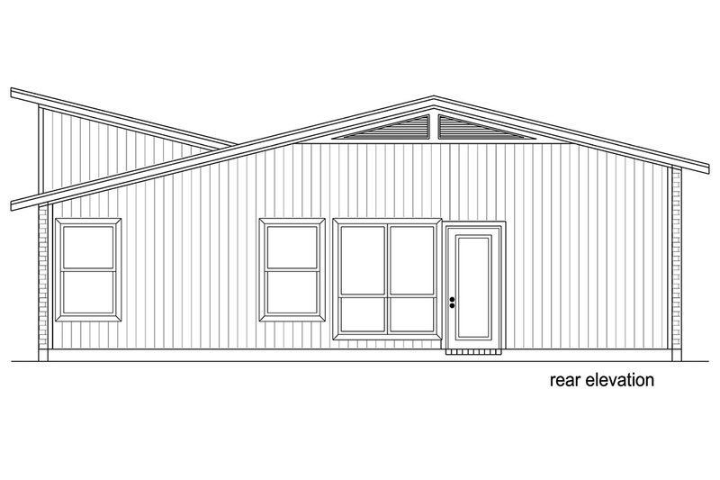 Contemporary Exterior - Rear Elevation Plan #84-513 - Houseplans.com