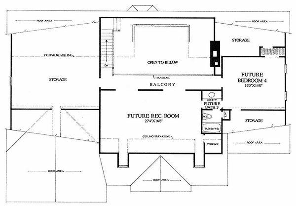 Southern Floor Plan - Upper Floor Plan Plan #137-160