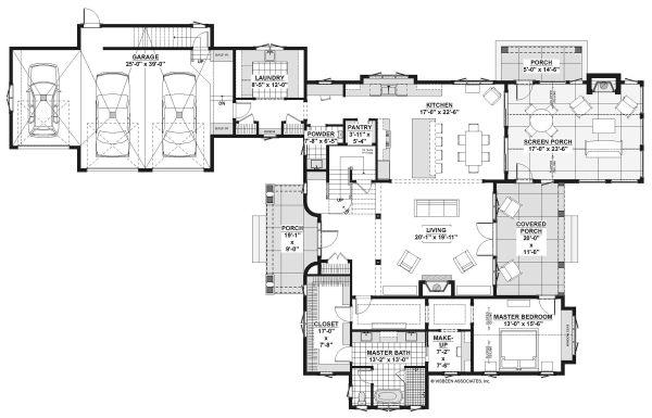 Country Floor Plan - Main Floor Plan Plan #928-337
