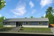 Ranch Style House Plan - 3 Beds 2 Baths 2040 Sq/Ft Plan #497-50 Exterior - Front Elevation