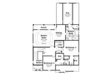 European Floor Plan - Upper Floor Plan Plan #419-248